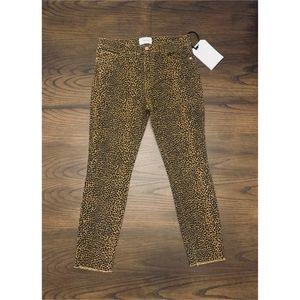 Current/Elliott The High Waist Leopard Print Jeans